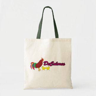 Colourful Rooster Budget Tote Bag
