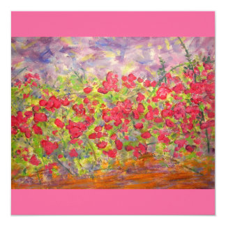 colourful roses blooming card