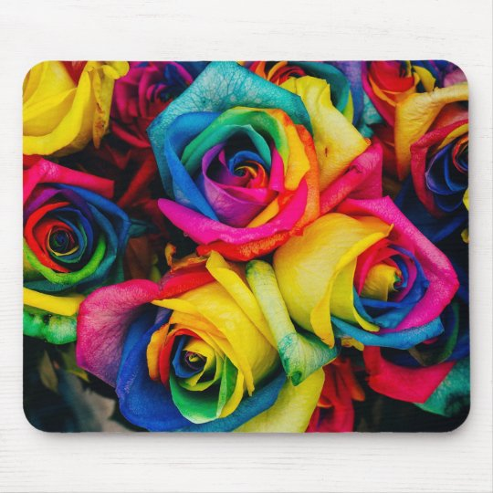Colourful roses mouse pad