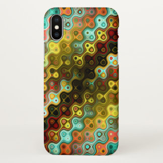 Colourful Rounded Stripes pattern iPhone X Case