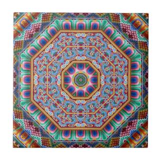 colourful sacred mandala tile