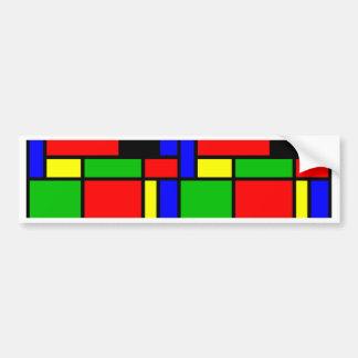 Colourful samples bumper sticker