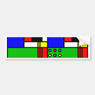 Colourful samples bumper sticker
