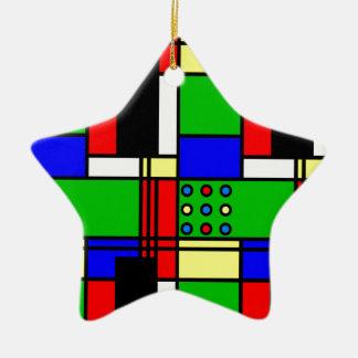 Colourful samples ceramic ornament