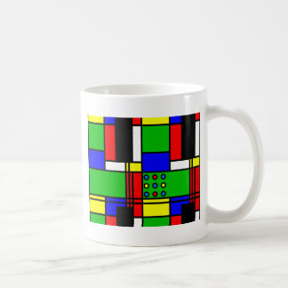 Colourful samples coffee mug