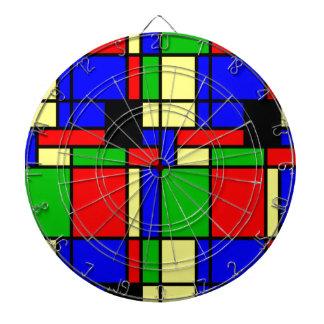 Colourful samples dartboard