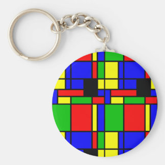Colourful samples keychain