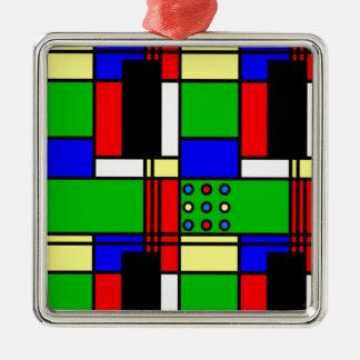 Colourful samples metal ornament