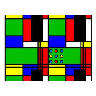 Colourful samples postcard