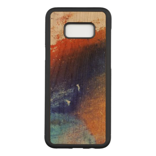 Colourful Samsung Galaxy S8+ Slim Cherry Wood Case