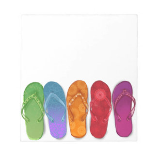 Colourful Sandals Flip-flops beach party Notepad