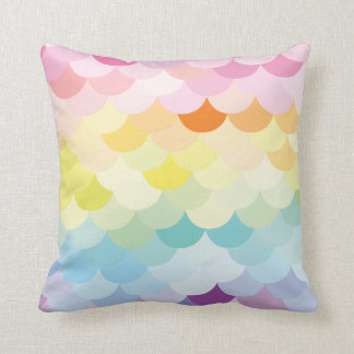 Colourful scale design // pastel throw pillow