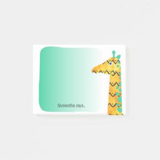 Colourful Scandinavian Style Giraffe Post-it Notes
