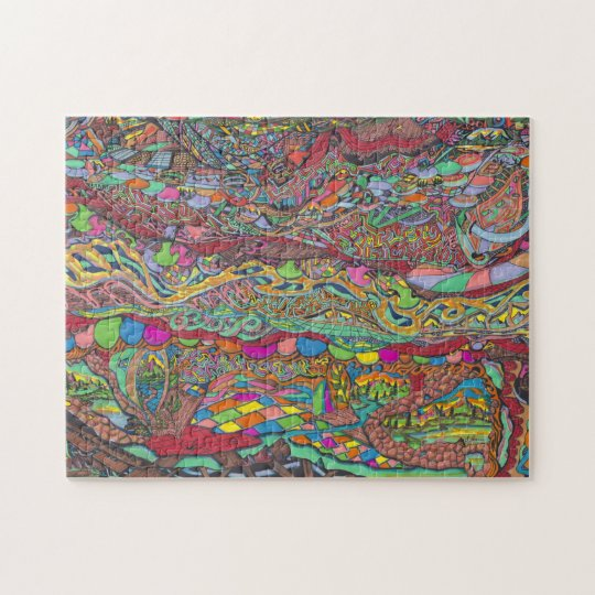 Colourful Scenery In Mazes Jigsaw Puzzle