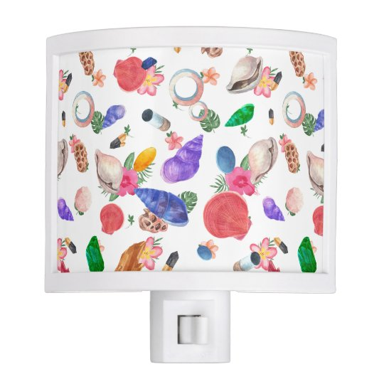 Colourful Sea Shells Night Lite