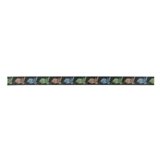 Colourful Sea Turtle Patterned Satin Ribbon
