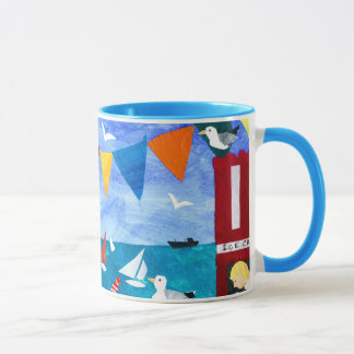 Colourful 'Seaside' Coffee Mug