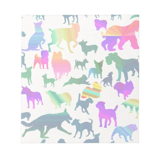 Colourful Shadow Dogs Notepad