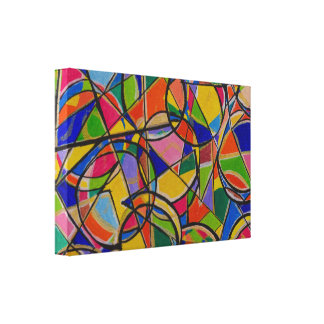 Colourful Shapes Abstract Art Canvas Print
