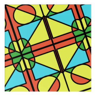 Colourful shapes wall art