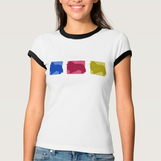 Colourful Sheltie Silhouettes T-Shirt