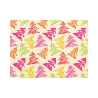 Colourful Sketchy Christmas Trees Pattern Doormat