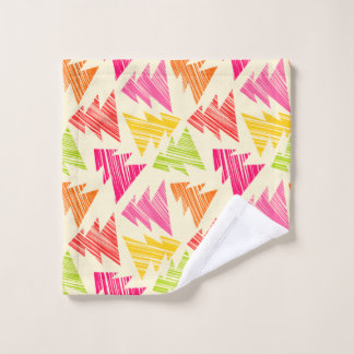 Colourful Sketchy Christmas Trees Pattern Wash Cloth