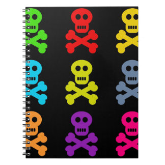 Colourful Skulls Spiral Notebook