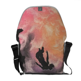 colourful sky dive messenger bags