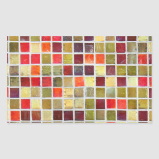 Colourful Small Bathroom Tiling Background Rectangle Sticker