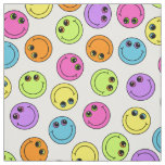 Colourful Smiley Faces Fabric