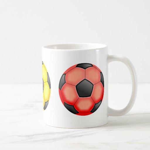 Colourful Soccer Balls Basic White Mug