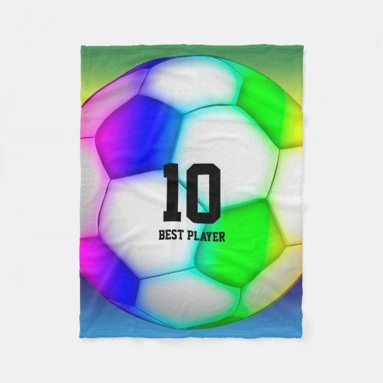 Colourful Soccer | Football Fleece Blanket