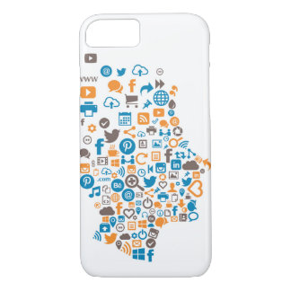 Colourful Social Icon Case with Social Icons