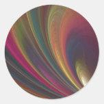 Colourful Soft Sand Waves Round Sticker