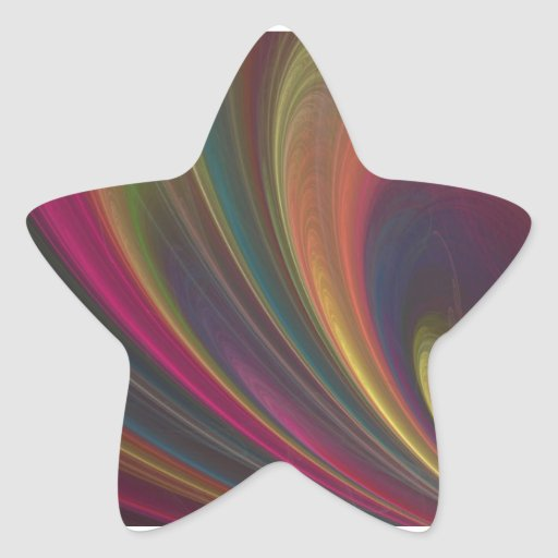 Colourful Soft Sand Waves Star Stickers