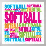 Colourful Softball