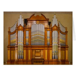 Colourful South Australian pipe organ Card