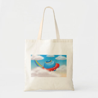 Colourful Spaceship Tote Bag