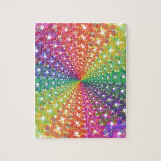 Colourful spectral background jigsaw puzzle