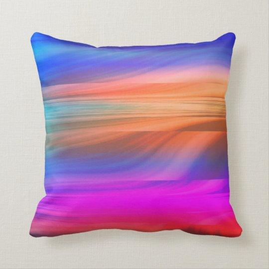 Colourful spectrum throw pillow