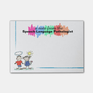 Colourful Speech-Language Pathologist Sticky Notes
