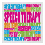 Colourful Speech Therapy Poster