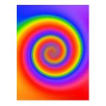 Colourful Spiral Design: