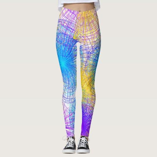 Colourful Spiral Leggings