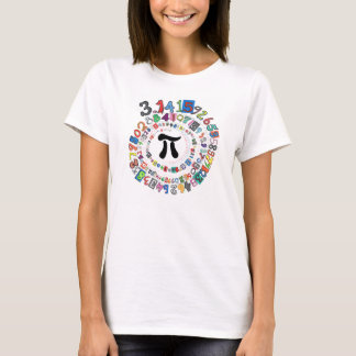 Colourful sPiral of Digits of Pi T-Shirt