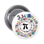 Colourful sPiral of Pi Calculated 2 Inch Round Button