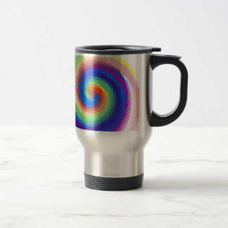 colourful spiral travel mug