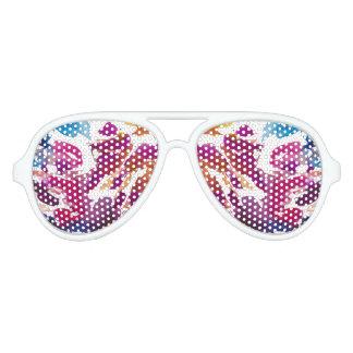 """Colourful spots"" Aviator Sunglasses"