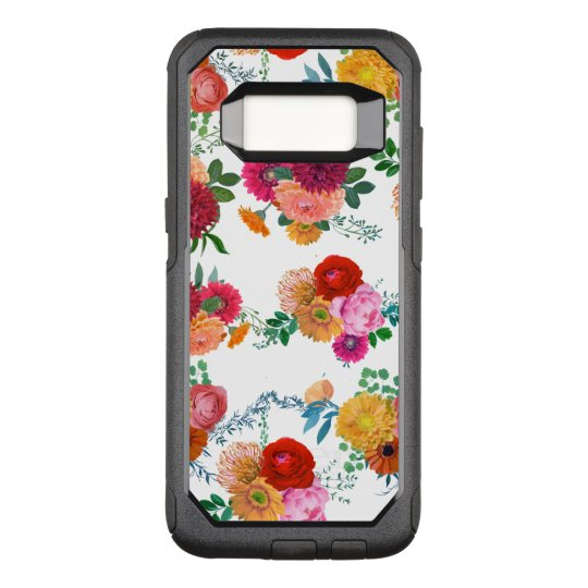 Colourful Spring Flowers Illustration OtterBox Commuter Samsung Galaxy S8 Case